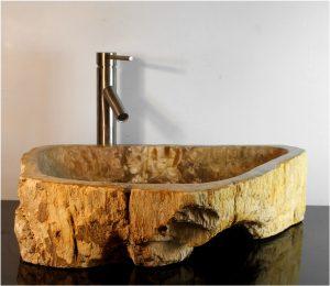 Petrified Wood Basin Sink Vessel Bathroom Counter Top By The Kings Bay vw12