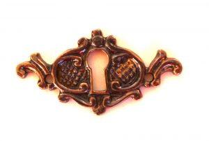 Beautiful Brass Victorian Key Hole Cabinet Door Hardware Aged Dark Finish
