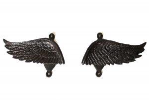 Angel Wings Pair of Curtain Tiebacks or Towel Bathroom Hooks