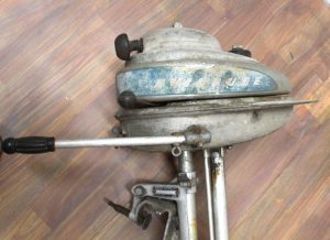 Antique 1935 Evinrude Outboard Motor in As Found Condition