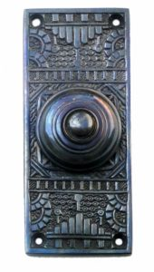 Victorian Vintage Replica Door Bell Button Electric Bronze Finish