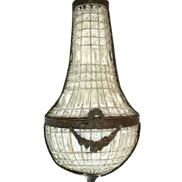 """French Crystal Antique Replica Wall Sconce Light Fixture Chateau Mansion 27"""""""