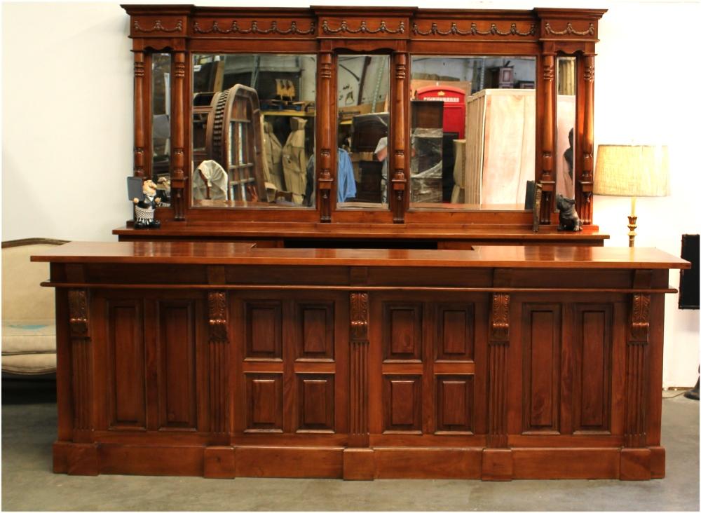 10 39 Mahogany Victorian Front Back Bar Antique Replica