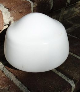 "Milk Glass GLOBE SHAPE SHADE 4"" Fitter Dia White Glass Light Lighting Parts"