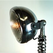 Hand Crafted Clutch and Spring Motorcycle Spot Light End or Side Table Lamp