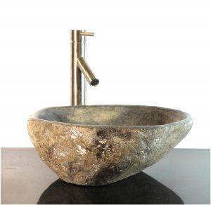 Riverstone Granite Boulder Vessel Sink Counter Top wbt5 Bathroom Bar