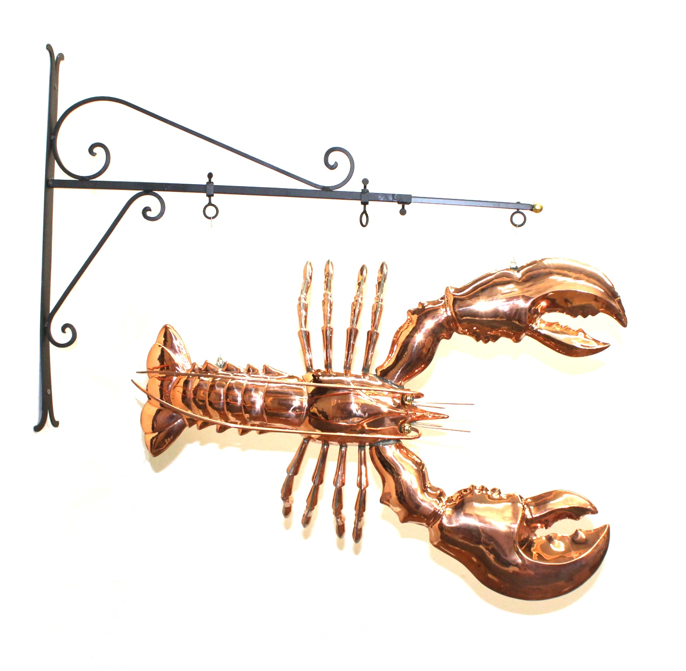 Giant Copper Lobster Like Old Trade Sign Seafood Decor Maine Kitchen Claw  Tail Fun ...