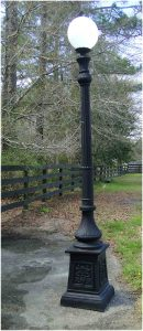Outdoor Commercial or Home POLE LIGHT Victorian Replica The Americana Vintage