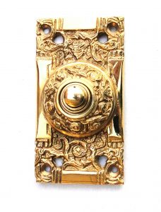 Victorian Solid Brass Electric DOOR BELL vintage antique Replica Hardware for new or old homes
