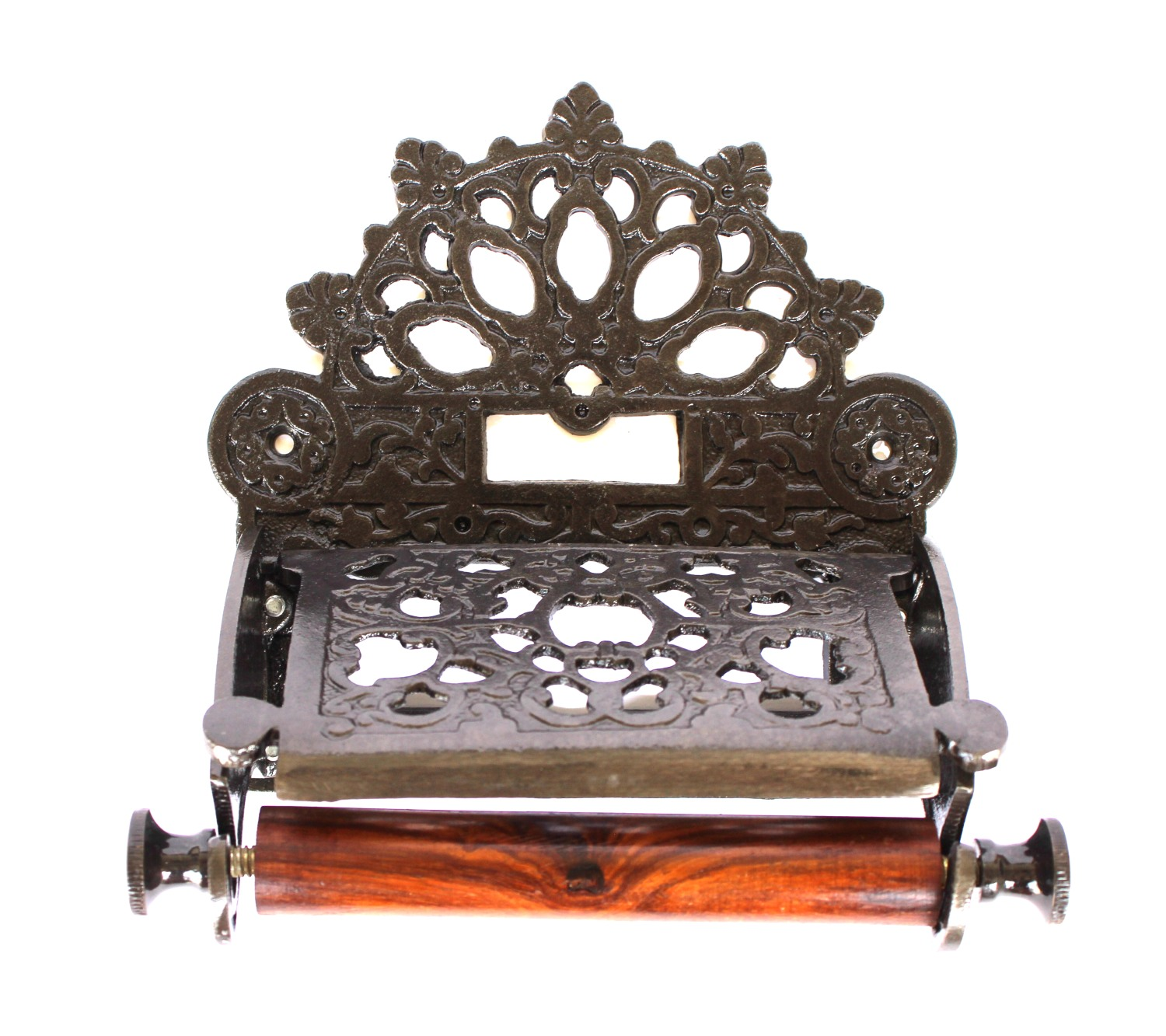 Victorian Cast Iron Antique Style Toilet Roll Holder Wall