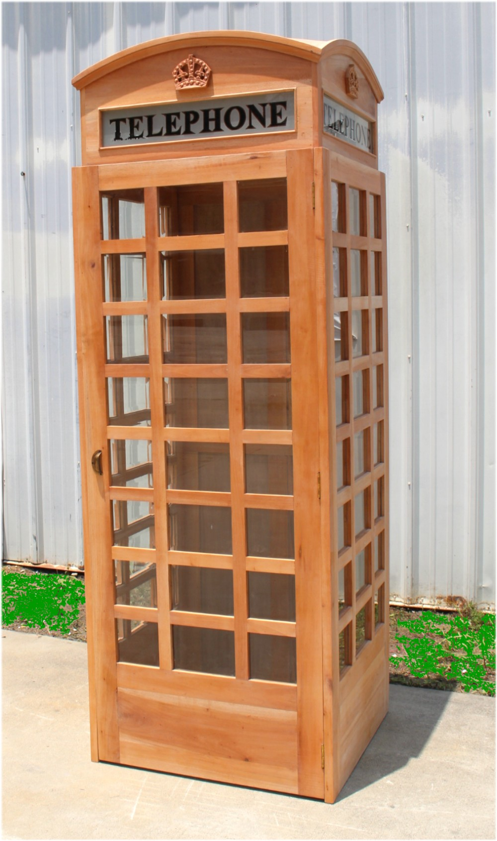 Unfinished Wooden Replica English British Telephone Booth