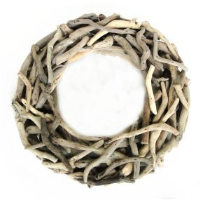 Small Driftwood Wreath Nautical Wood Natural Drift Wood Decor for Wall or Table