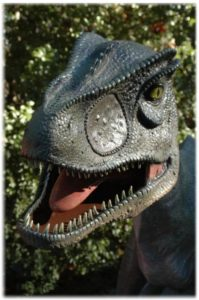 Giant Life Sized Allosaurus Dinosaur Statue, Jurassic World Sculpture