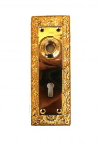 Shell Top Door BACK PLATE Hardware solid brass vintage hardware antique