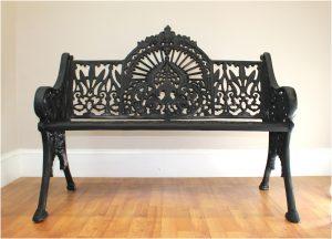 "Antique Victorian Vintage Garden Bench Seat Federal Fancy Legs ""Fan Top"" Replica"