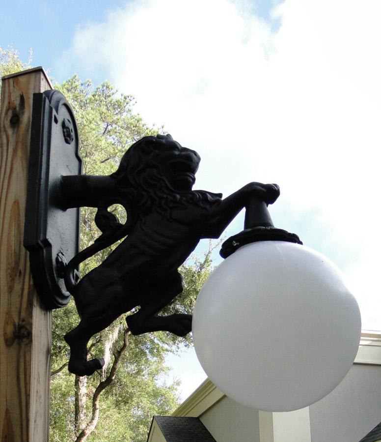 Wall Mounted LION SCONCE light indoor or outdoor Detroit fixture metal building