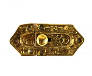Springing Solid Brass Vintage Style Cupboard Latch with Knob
