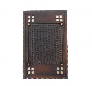 Arts and Crafts - Mission Bronzed Brass Two Gang Blank Switch Plate