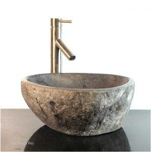 Riverstone Granite Boulder Vessel Sink Counter Top wbt7 Bathroom Bar