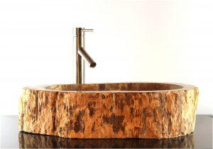 Bathroom Counter Top Petrified Wood Oval Vessel Basin Sink by The Kings Bay ZZ4