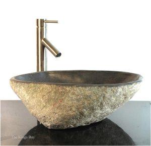 Riverstone Granite Boulder Vessel Sink Counter Top Bathroom Bar wbt8