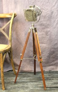 Hollywood Movie Studio Spot Light Adj. Height Floor End Table Lamp Vintage Reproduction