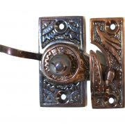 Victorian Window Sash Lock Spring Catch Brass Old Style Restoration Hardware Latch Aged