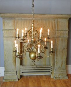 Colonial BIG Solid Brass Chandelier Light Fixture w 12 Arms, Aged Antique, RARE SALE !