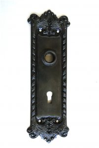 Classic Door BACK PLATE Hardware Solid Brass Vintage Hardware DARKENED AGED Antique RETRO