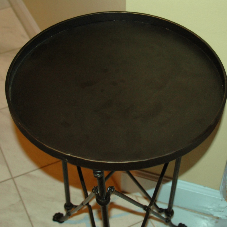 Old Bronze ROUND Clawfoot TABLE, British Restoration Hardware Campaign, Side or End