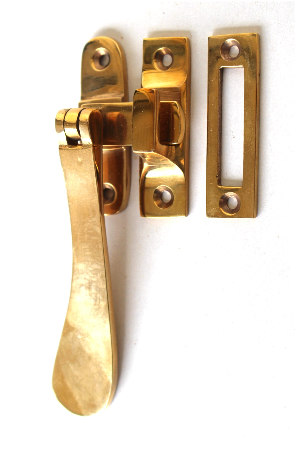 Lovely Brass Window Casement Lock Latch Set with Flat Handle AGED Darkened Finish