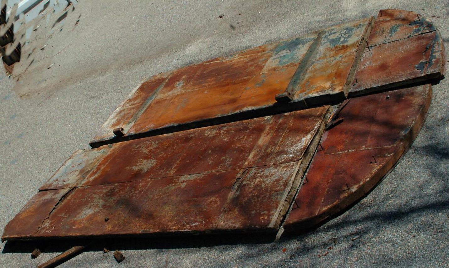 Antique Iron Savannah Shutter Doors Architectural Old Industrial Hurricane Rare