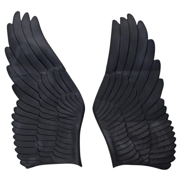Giant Pair of Angel Cherub Fairy Metal Wings Gold Black Any Paint Color