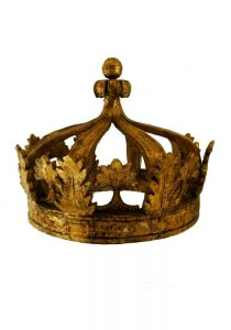 Giant Architectural Wooden Gold Leaf Crown Teester, Antique, Big, Huge, Large