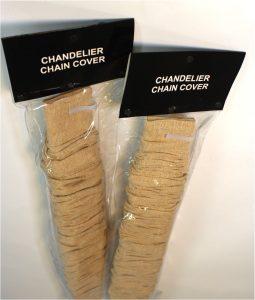 Linen Chandelier Lamp Chain w Velcro Cord Cover Designer Lighting Effect 6' PR
