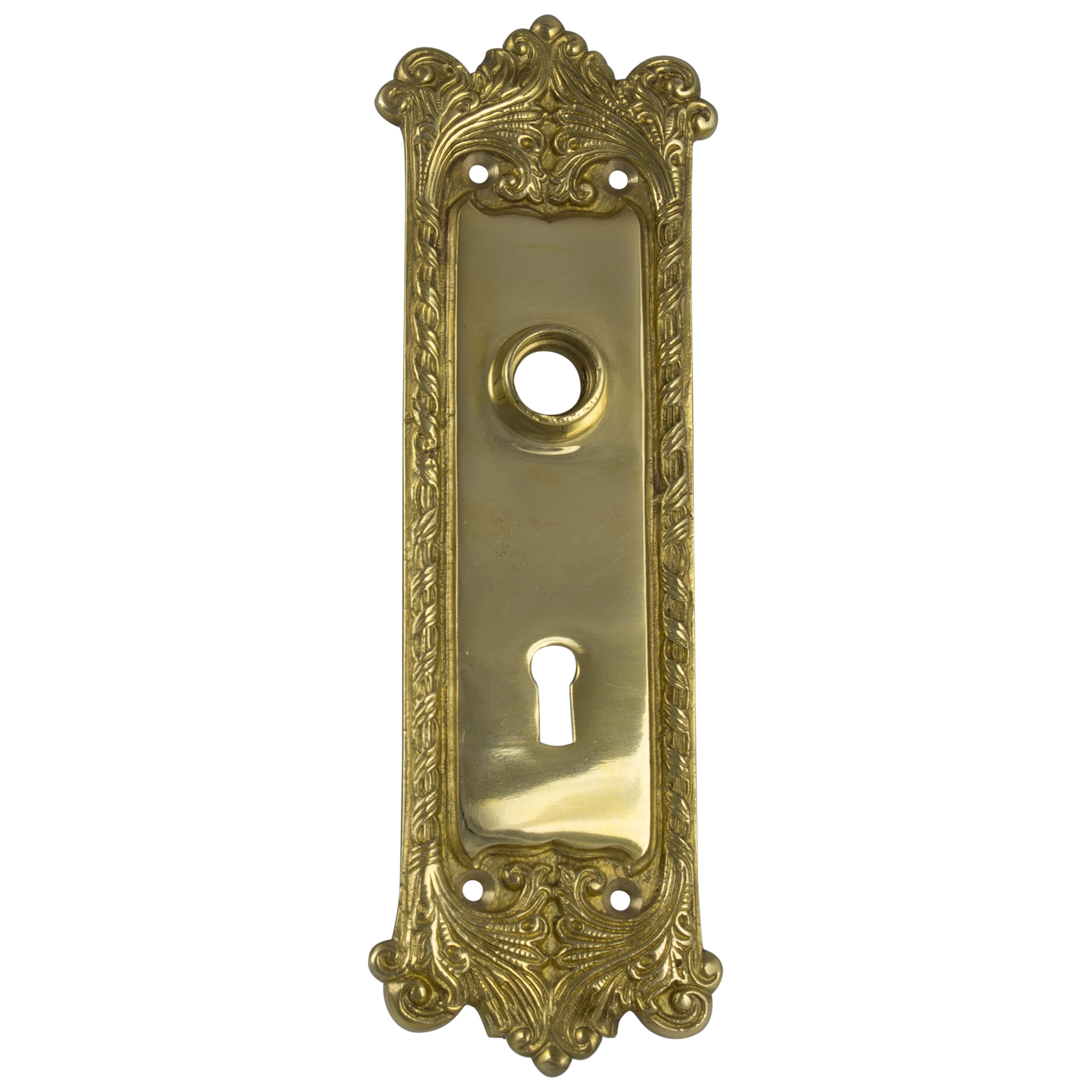 Classic Door BACK PLATE Hardware Brass Vintage Hardware Antique Replica