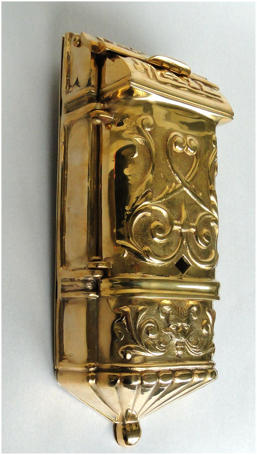 Victorian Motif Mail Box Mailbox Vintage Style Solid Brass