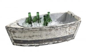 Wooden Row Boat for Ice Bucket, Flowers, Wine Bottles, ETC... Fill With Your Ideas !