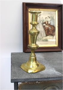 Antique Solid Brass, Hand Made Victorian CANDLESTICK