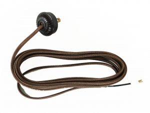 Replacement Lamp Cord Rayon Covered with Bakelite Round Plug 10' Wire Parts