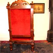 Giant Winged Angel Throne Arm Chair with Red Velvet Fabric for King or Queen