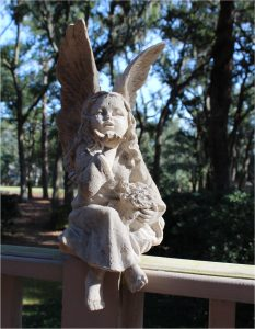 Pixie Fairy Statue made of Faux Marble Garden or Home Sculpture Statue 16″ Tall