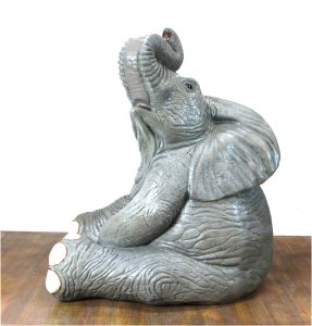 Life Size Baby Elephant Sitting in Cute Pose 40″ Tall – The Kings Bay