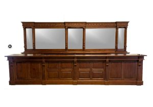 Store Counter with Back & Front Antique Replica Commercial Shop Business