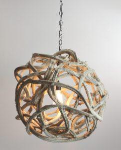 Liana BIG Orb Ball Chandelier Hand Made 26″ Dia Luxe Style Pendant Light Fixture