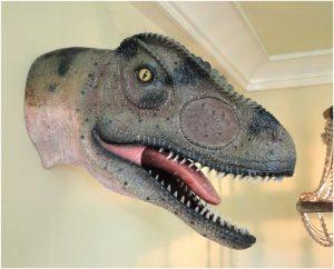 Medium Wall Mounted Allosaurus Dinosaur Head Sculpture Jurassic Park Statue