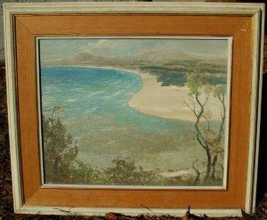 Very Rare Framed L V Solomon Impressionist Oil Painting Original Art Southern Estate