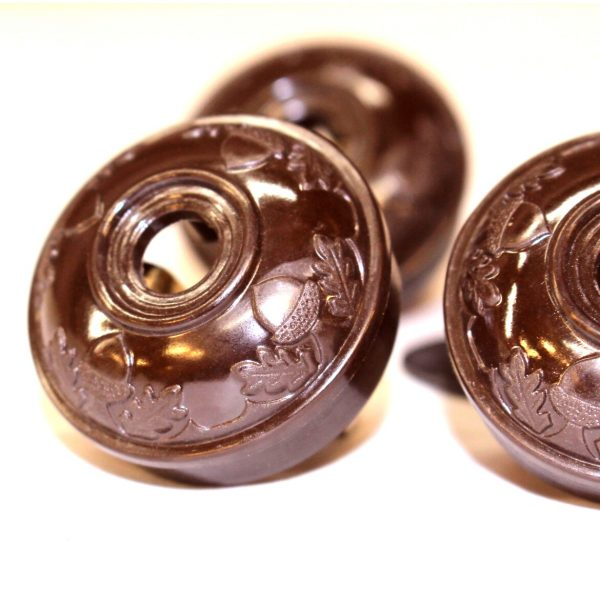 Acorn Bakelite BROWN Tiffany and Co Replica Lighting Parts Plugs Handel (5pcs)