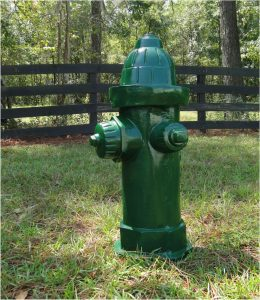 Antique Green Fire Hydrant Replica Full Size Heavy Dated 1904 Vintage Style
