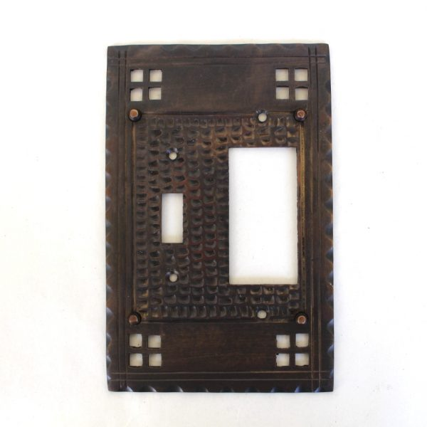 Arts and Crafts Mission Bungalow Style Rocker with Single Switch Plate